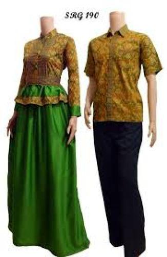 model Baju batik couple long dress Anak Muda Terbaru