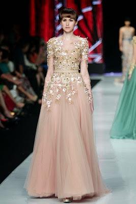 Model Dress Pesta Brokat Modern Terbaru
