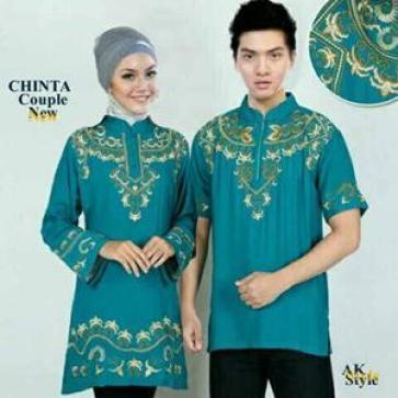 Model Baju muslim Couple Batik Keluarga Modern