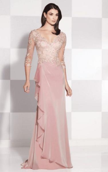 Model gaun Untuk pesta brokat kombinasi sifon Terbaru