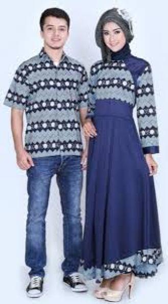 model baju batik couple pasangan sama pacar Terbaru