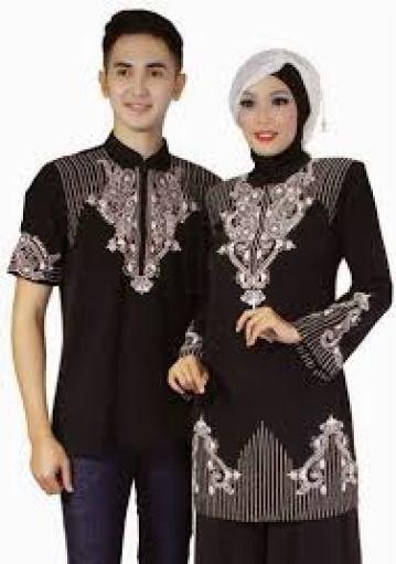 Model Baju muslim Batik Couple Keluarga Modern