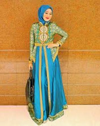 Model Long Dress Brokat Untuk Pesta Terbaru