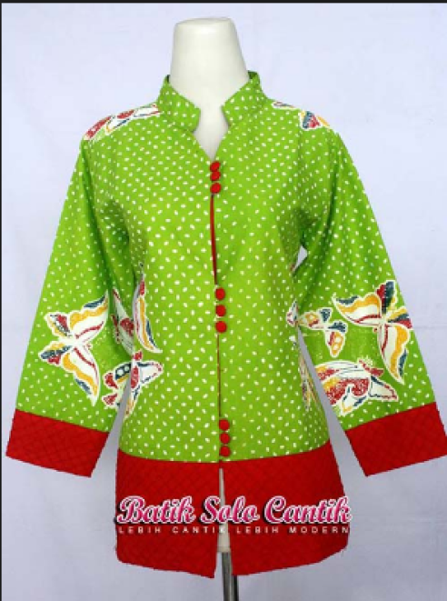 model baju batik kerja untuk orang gendut
