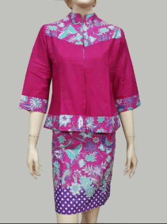 Model Baju Batik Seragam untuk Kerja Terbaru