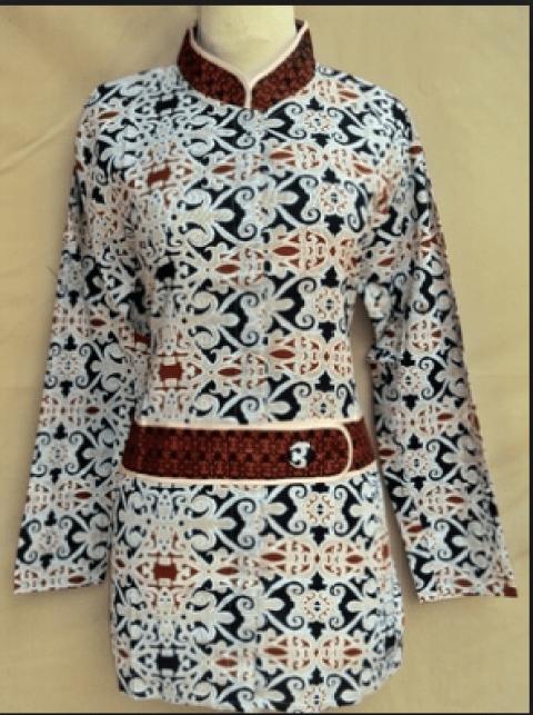 model baju batik atasan wanita kantor terbaru