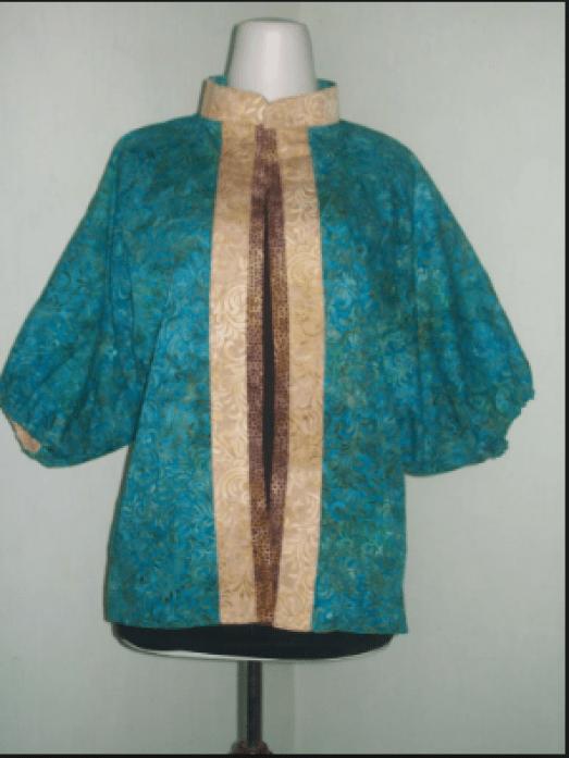 gambar baju batik kerja ibu hamil