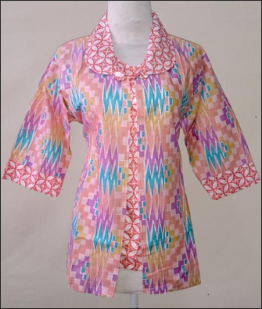 foto baju batik buat kerja muslim