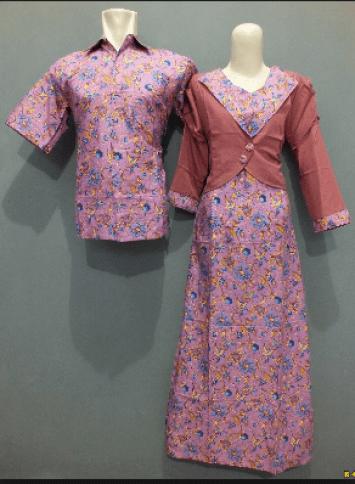 Model Baju Batik Couple Keluarga Resmi