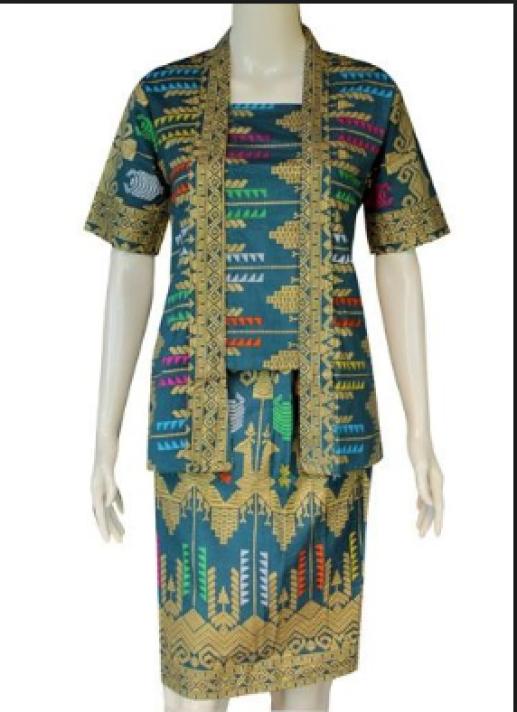 model baju batik atasan wanita kantor