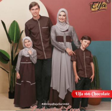 Model baju lebaran couple keluarga