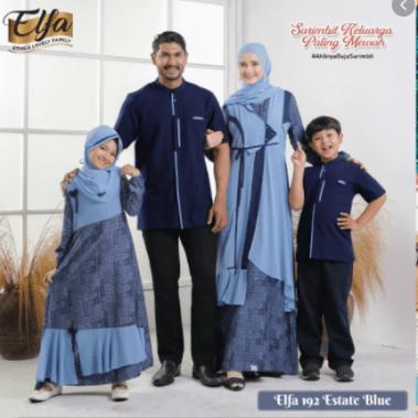 Baju muslim couple keluarga terbaru