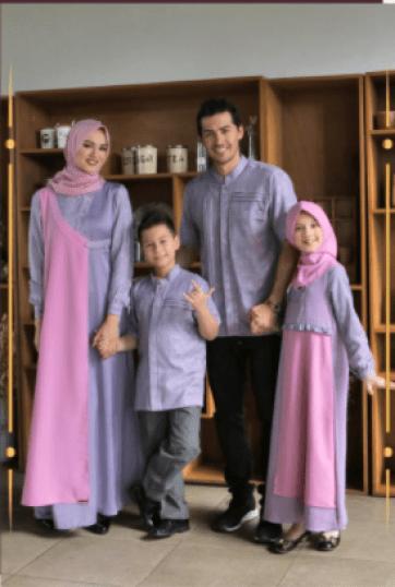 Baju gamis couple keluarga terbaru