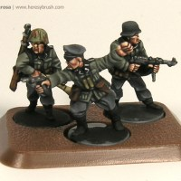 How to paint 15mm Germans from the Open Fire box