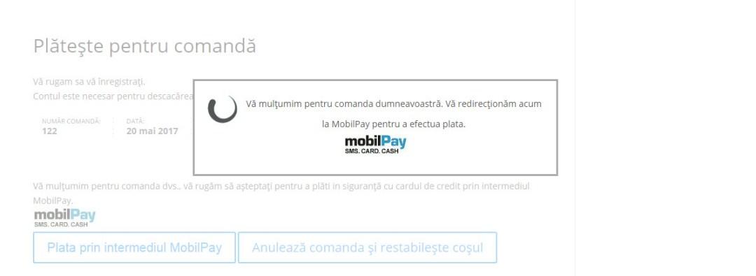 redirectionare mobilpay