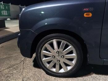 ラパンSS(HE21S)ホイール&タイヤ交換とタイヤ重量比較