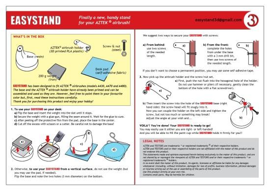 istruzioni easystand standard
