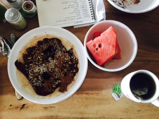 Brunch and studying