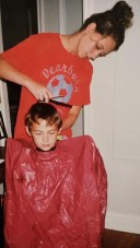 Those were the days. The only person you trusted to cut that mess of a mop. I miss you baby bro