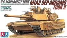 Tamiya 35326 1/35 U.S. Main Battle Tank M1A2 SEP Abrams TUSK II Box Art
