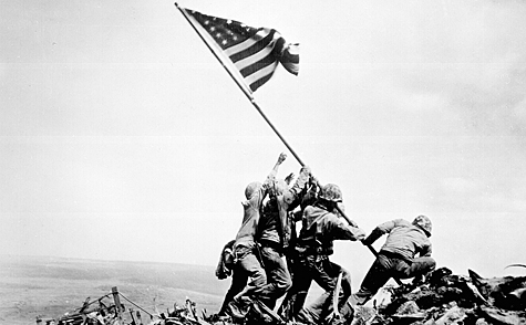 Raising Flag in Iwo Jima