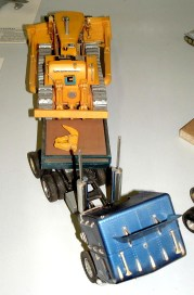 Alan's Dozer and low loader