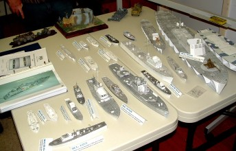 Roger's paper fleet of coastal craft