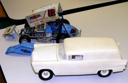 Alan's panel van and sprintcar