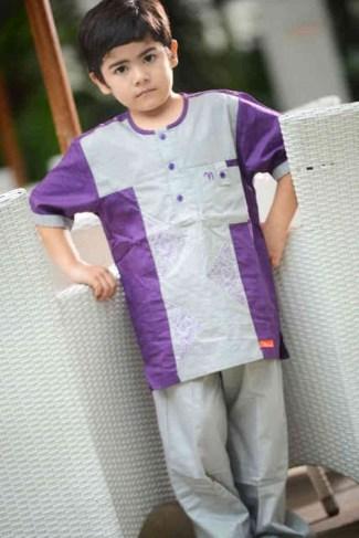 Baju Lebaran Anak Laki-Laki dengan Lengan Pendek