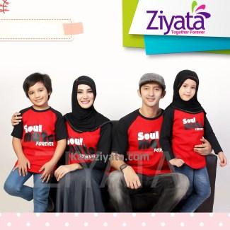Baju Lebaran Keluarga dengan Model Kaos Santai