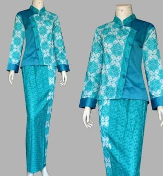 Model Baju Batik Pramugari Lengan Panjang yang Elegan