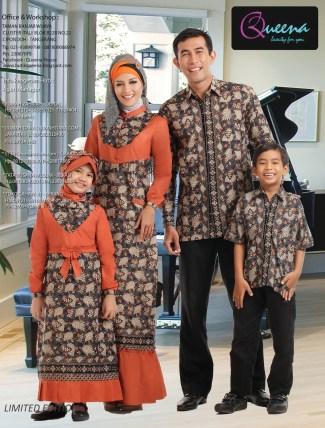 Model Baju Lebaran Keluarga Bermotif Batik Modern