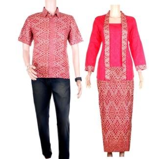 Model Baju Bahan Embos Kombinasi Batik