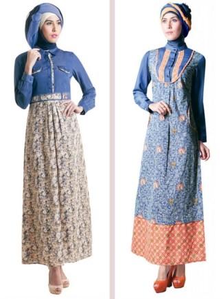 Baju Gamis Muslimah Terbaik denagn Motif Batik