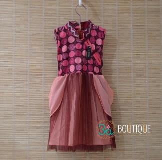 Gaun Batik untuk Anak Perempuan dengan Model Tanpa Lengan
