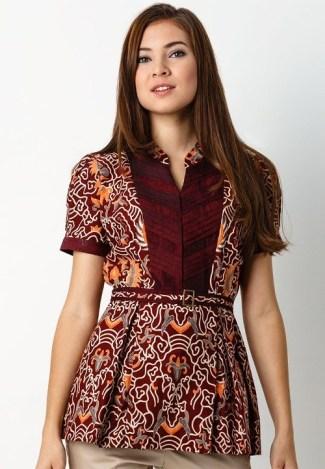 Model Baju Batik Wanita Modern Remaja Lengan Pendek Model Batik 2019