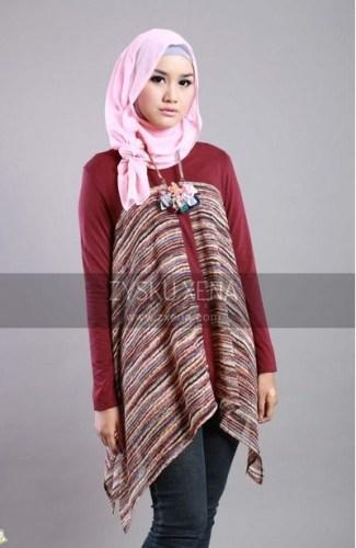 Model Baju Batik Muslimah untuk Pesta Super Kece