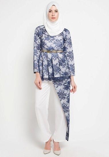 33 Model Baju Batik Pesta Wanita Muslimah Non Muslim Terbaru 2017