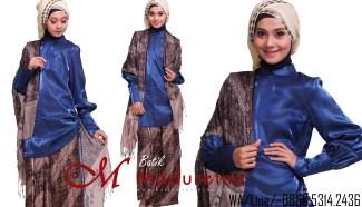 Model Baju Batik untuk Pesta dengan Bahan Satin