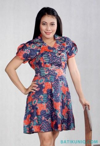Model Baju Batik untuk Pesta Pernikahan dengan Gaya Dress Pendek