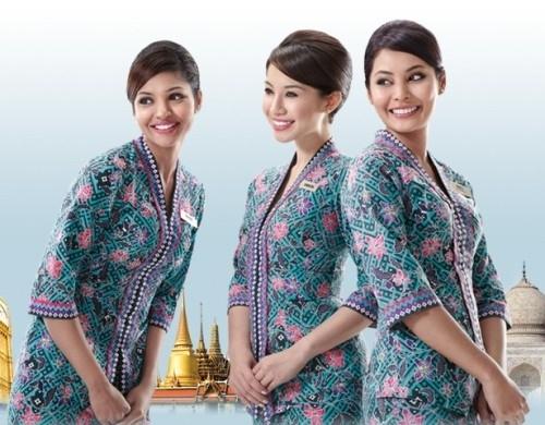 Model Baju Batik untuk Pramugari
