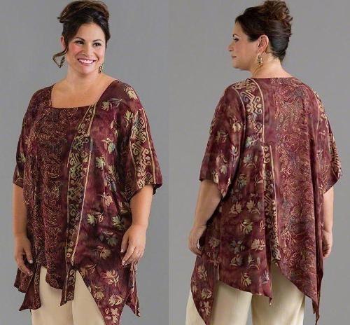 Model Baju Batik untuk Wanita Gemuk dengan Motif Modern