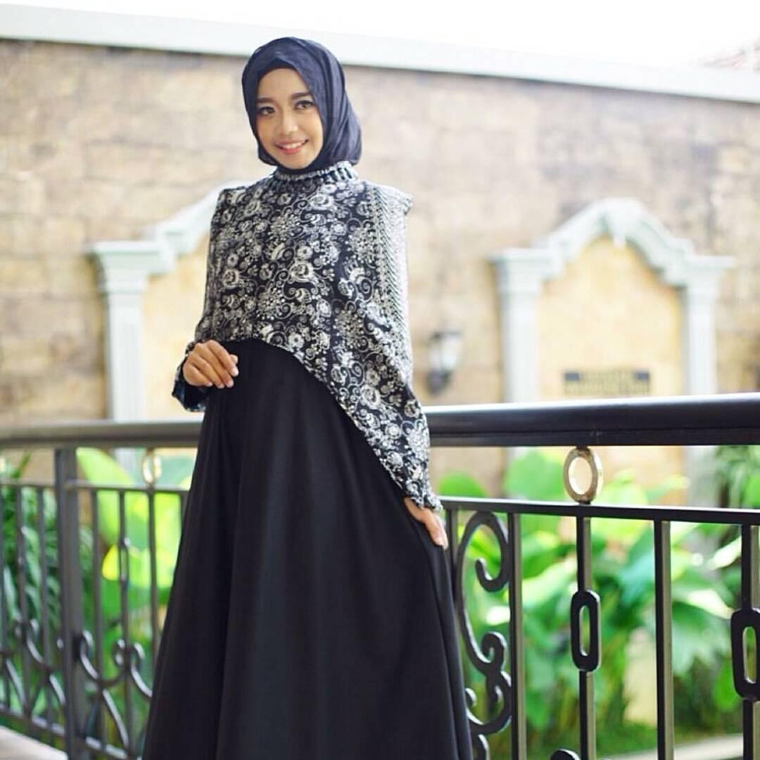 Model Baju Gamis Perpaduan Batik: 27+ Model Baju Batik Untuk Pesta Pernikahan Terbaru 2017