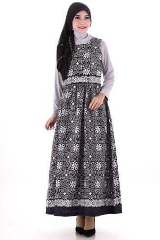 Model Baju Batik Pesta Wanita Muslim Modern Dian Pelangi Model