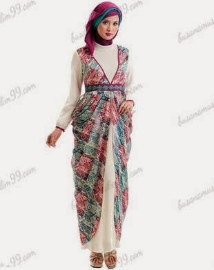 Model Gamis Batik Modern untuk Menghadiri Acara Pesta