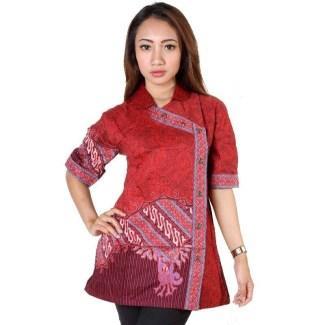 Model Baju Batik Atasan Kombinasi Terpouler Saat Ini