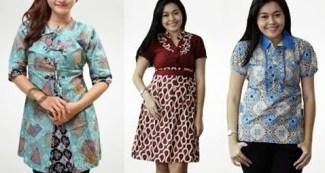 Model Baju Batik Atasan untuk Wanita Gemuk Agar Terlihat Kurus