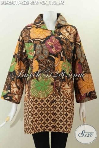 Model Baju Batik Atasan untuk Wanita Gemuk Terbaru Saat Ini