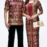 Model Baju Batik Couple untuk Pasangan dalam Acara Pesta Pernikahan