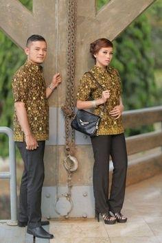 Model Baju Batik Kerja untuk Pegawai Bank Paling Keren